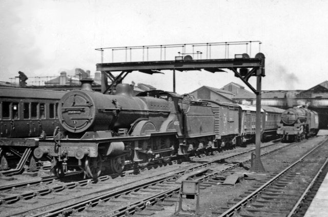 Parcels train at south end of Crewe Station