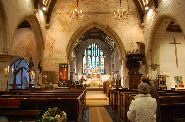 Interior, St Denys' church, Rotherfield