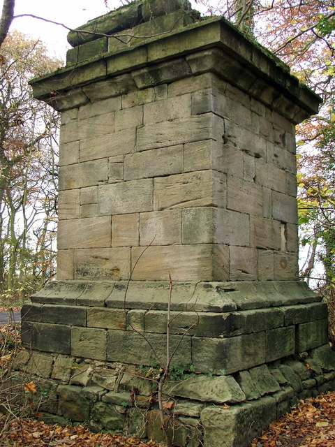 Obelisk base, near Delaval Hall