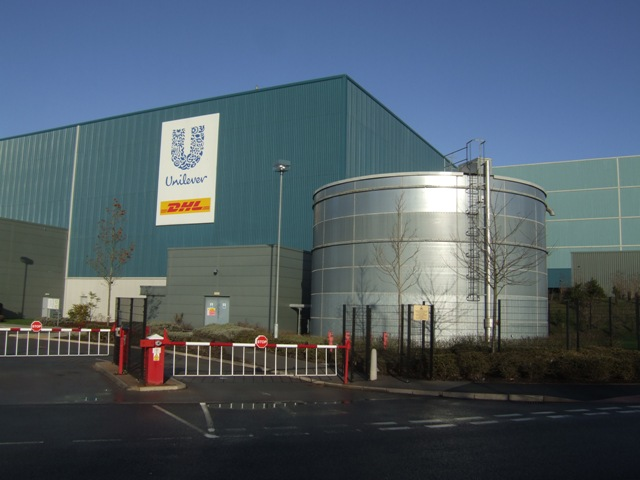 Entrance to Unilever/DHL Plant
