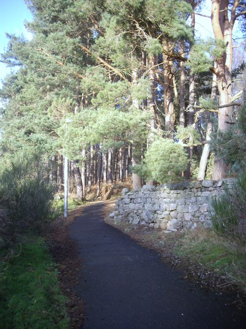 Cycle path to Inchmarlo Golf Centre