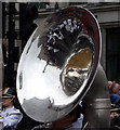 TQ2980 : Tuba Reflections - New Year's Day Parade 2012 by Christine Matthews