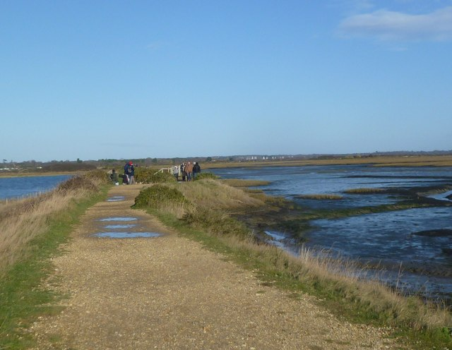 Keyhaven, coastal path