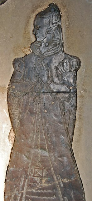 Brass of possibly Mary Gedge, St Margaret's church