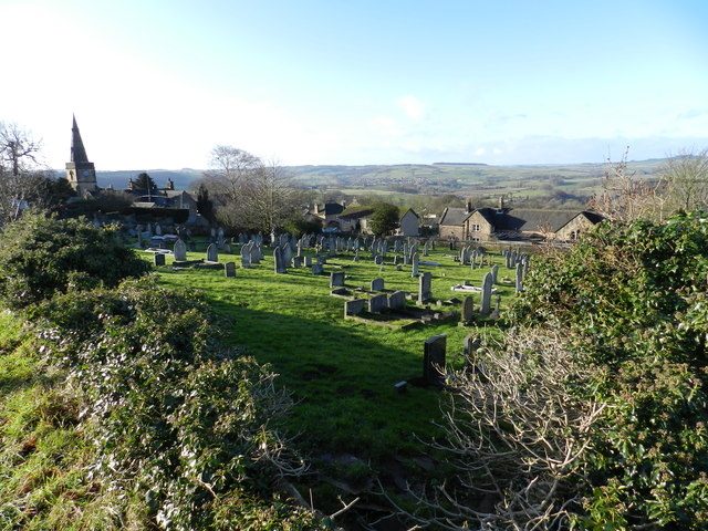 Graveyard, and church, Stanton in Peak