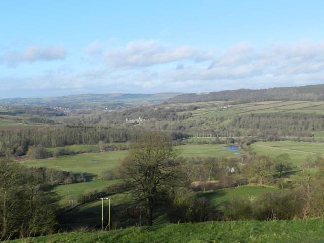 View north-west from Pilhough Lane