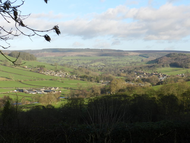 View of Rowsley from above Congreave