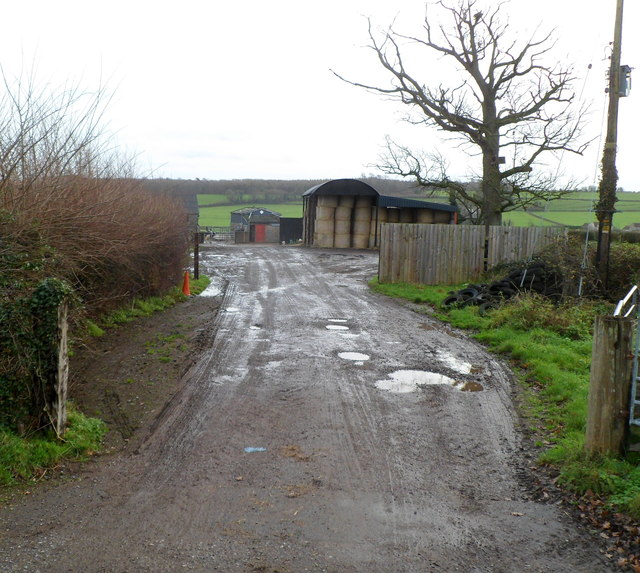 Muddy access to farm buildings, Whitfield