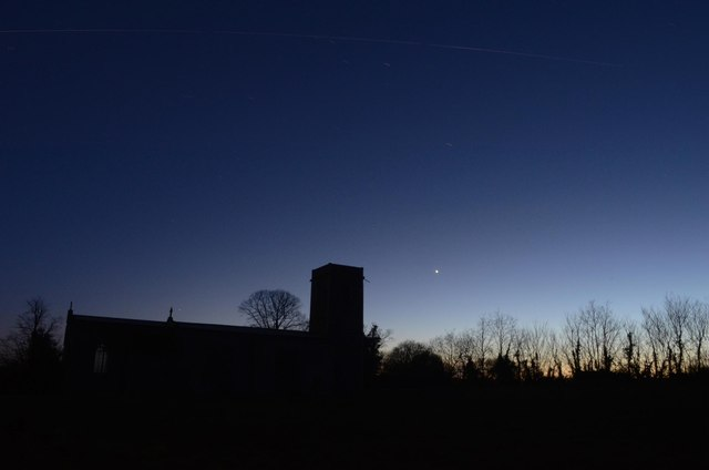 Ellough Church at Night