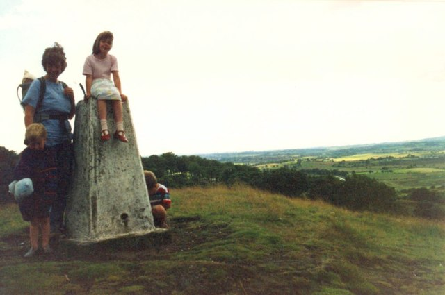 View from Castle Hill and trig point