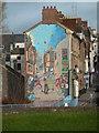 SX9192 : Mural, New Bridge Street, Exeter : Week 52