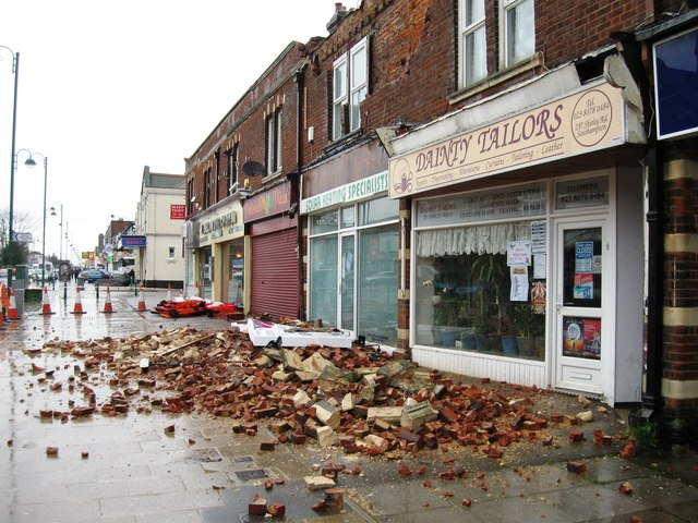 Storm damage, Shirley Road