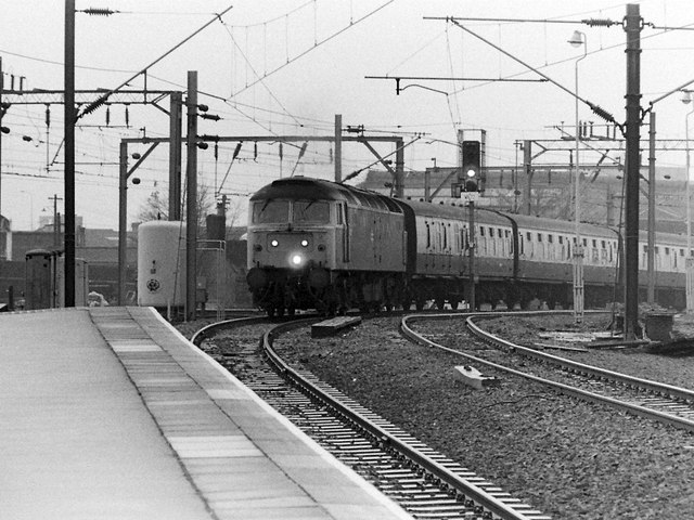 Class 47 Locomotive at Wolverhampton, 1984