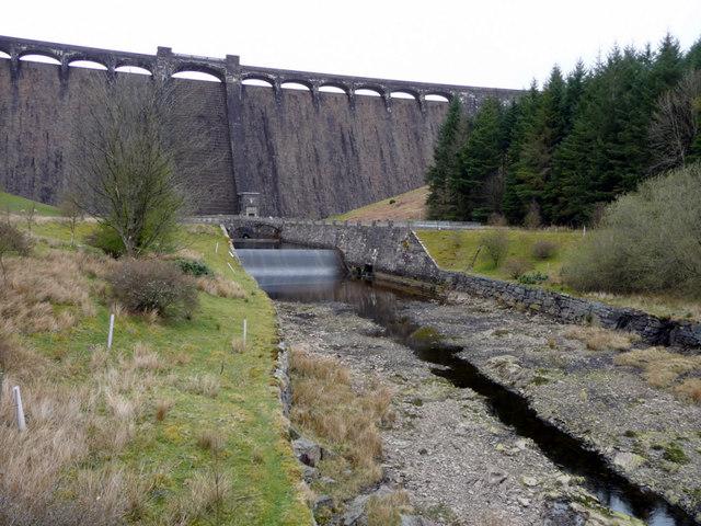Claerwen Dam, Elan Valley, Mid-Wales
