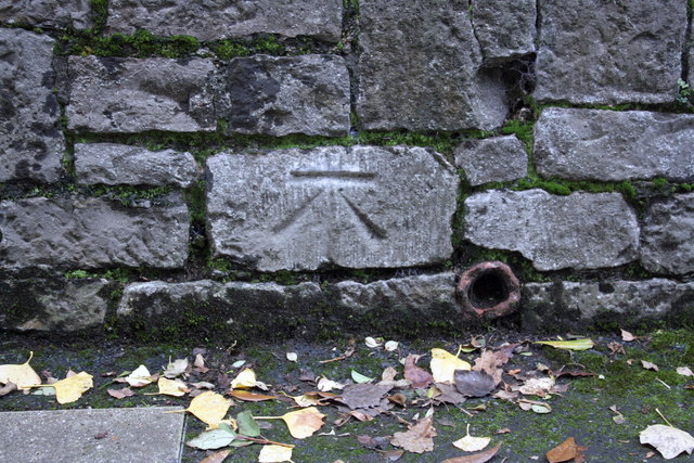 Benchmark on wall of #7 Howell Road