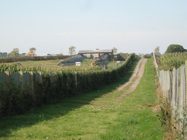 Ride and footpath through a poultry farm