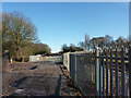 SJ8092 : Access to Metrolink construction site from Rifle Road, Sale by Phil Champion