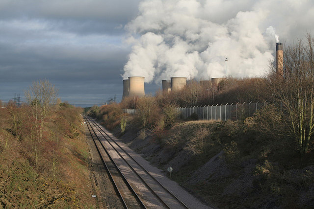 Railway to Eggborough Power Station