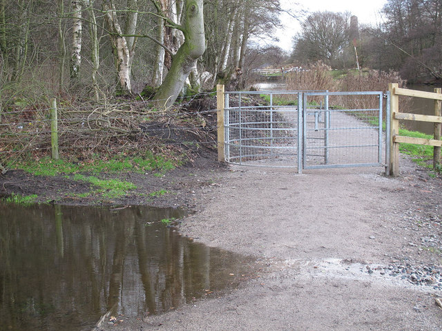 Kissing gate on the towpath