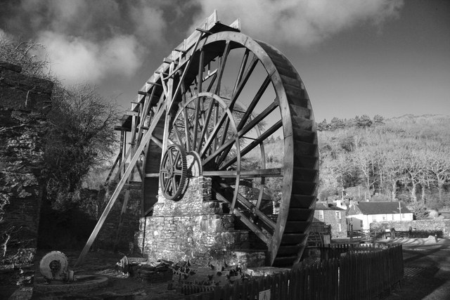 Manganese mill at Morwellham