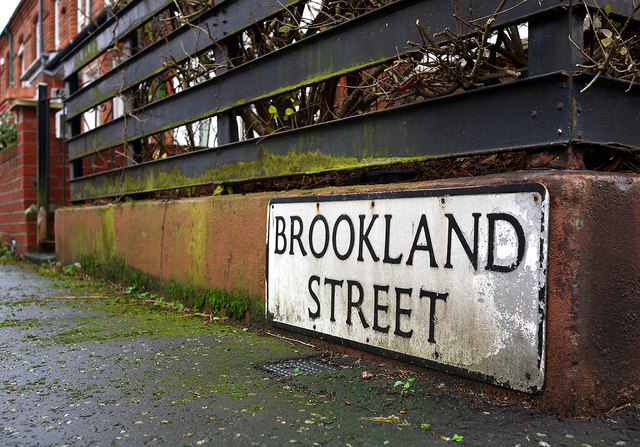 Brookland Street sign, Belfast