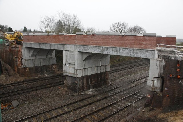 The new bridge at Purley