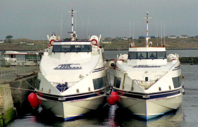 Two ferries at Rossaveal
