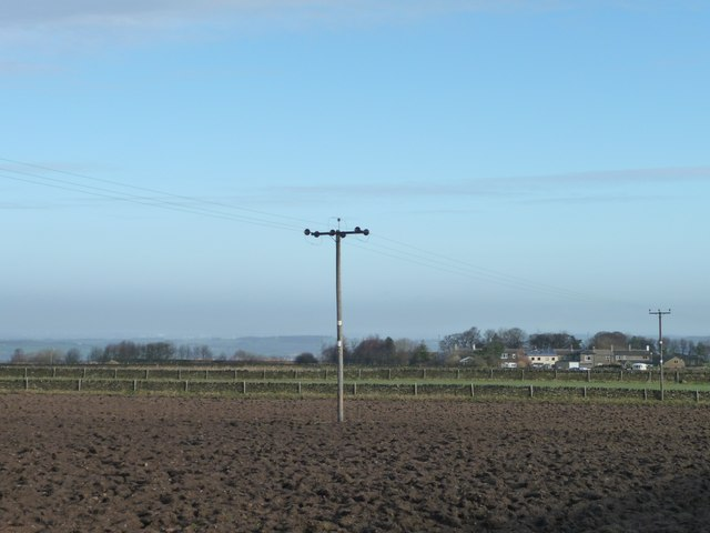 Ploughed field on Birds Edge Hill