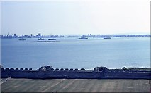 SU6203 : Portsmouth Harbour from Portchester Castle (1) by Barry Shimmon
