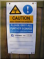 TM2246 : Sign on O2 Telecommunication Mast by Adrian Cable