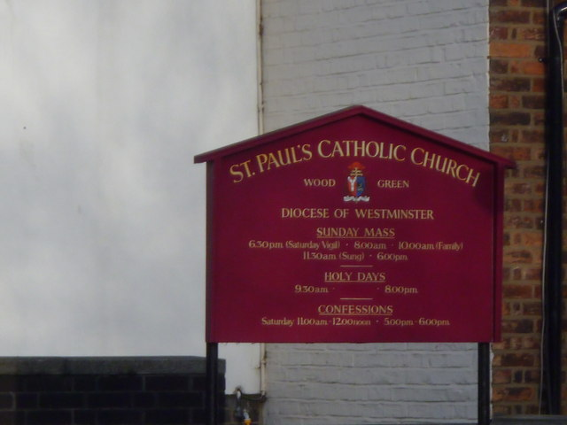 Notice Board, St Paul's Church, Station Road N22