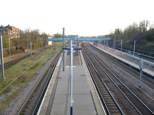 Platforms at Alexandra Palace Railway Station
