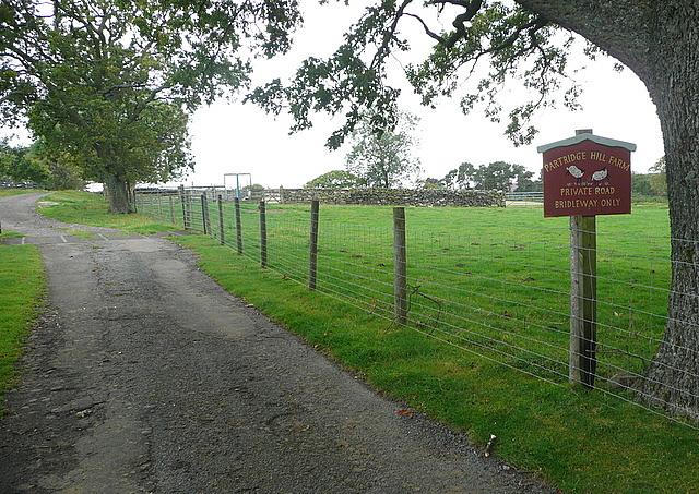 Entrance to Partridge Hill Farm