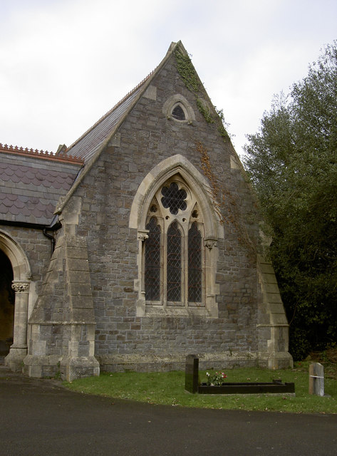 Eastern corner of Locksbrook Cemetery chapel