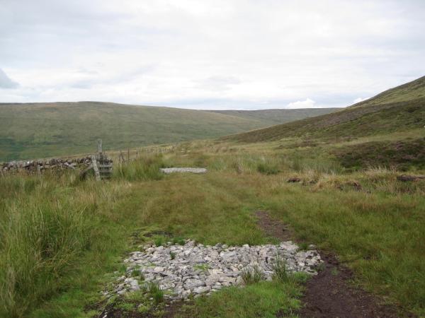 Moorland Track and Dry Stone Wall, Scarrowmanwick Fell