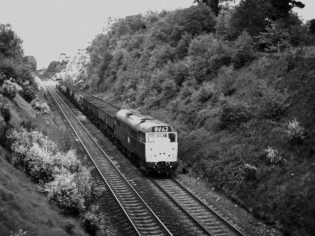 Class 31 Near Barnt Green, 1975