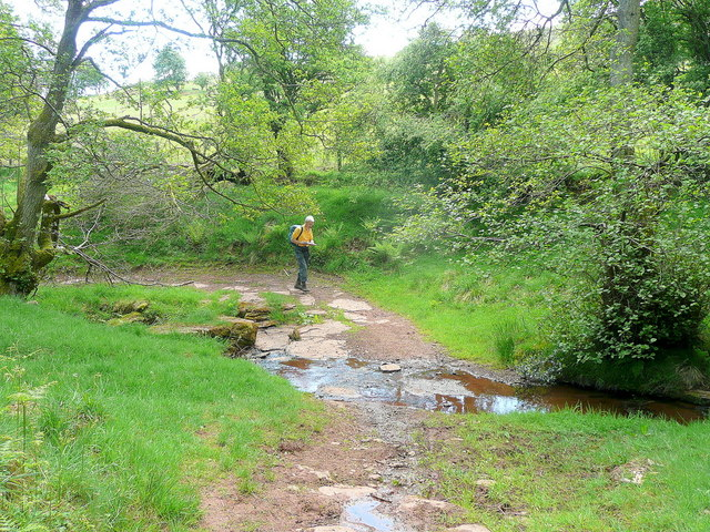 Geographer on bridleway