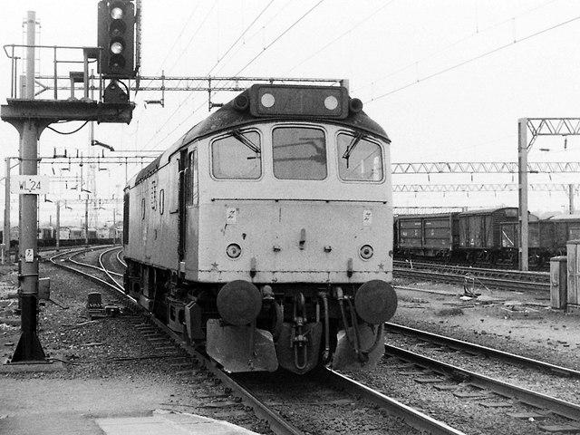 Class 25 at Bescot, 1983