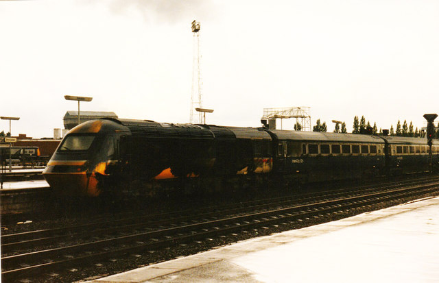 Oily HST at Doncaster, 1986