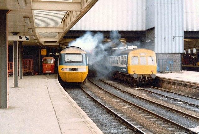 Smoky HST at Leeds, 1986