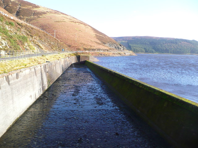 Dry spillway at Camps Reservoir