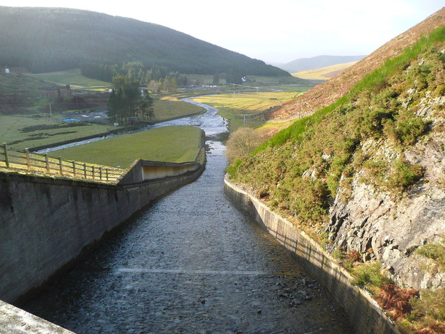 Dry spillway at Camps Reservoir