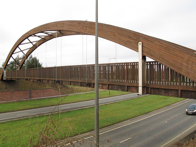 Bridge over the A523