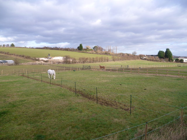 Fields next to the Old Mill Equestrian Centre