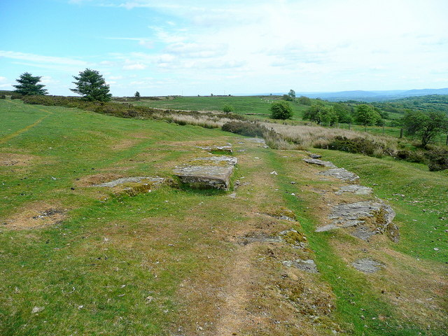 Rock slabs on Cefn Hill