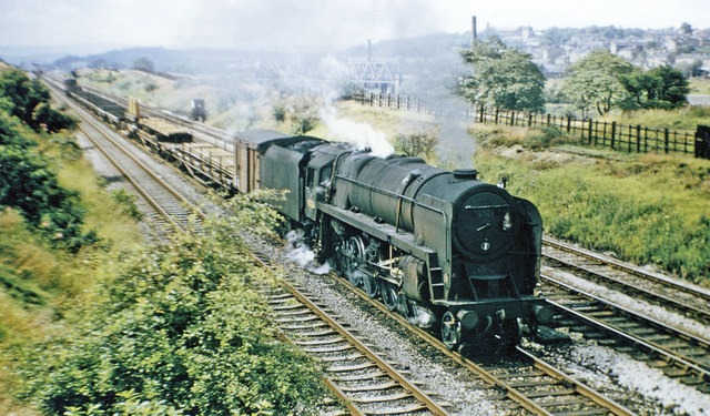 Up P.W. Engineers' train approaching Mirfield