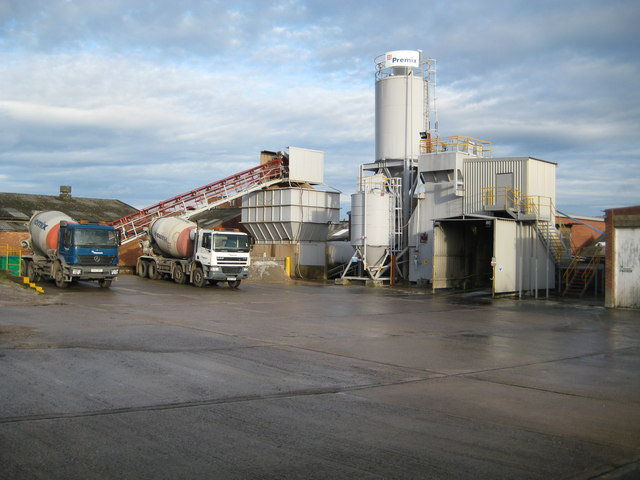 Exhall: Hanson Premix ready mixed concrete plant