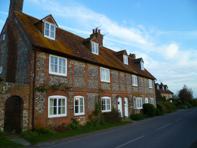 Cottages on Downs Road at West Stoke