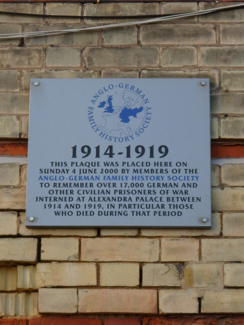 Anglo-German Society Plaque, Alexandra Palace N22