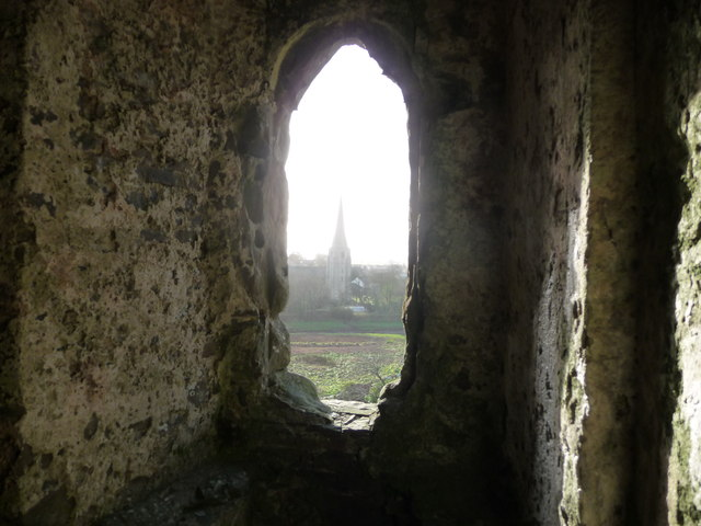 View from Kidwelly Castle gatehouse